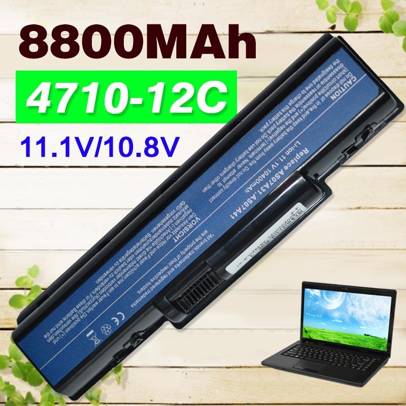 12 cellules batterie d'ordinateur portable pour Acer Aspire 4710 4720 5335 5338 5536 5735 5738 5540G 5734Z 5740G 5737Z 7715Z