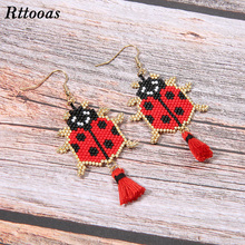 Rttooas Summer Fashion  Exquisite Drop Earrings for Women DIY Charm Animal Handmade Woven Tassel