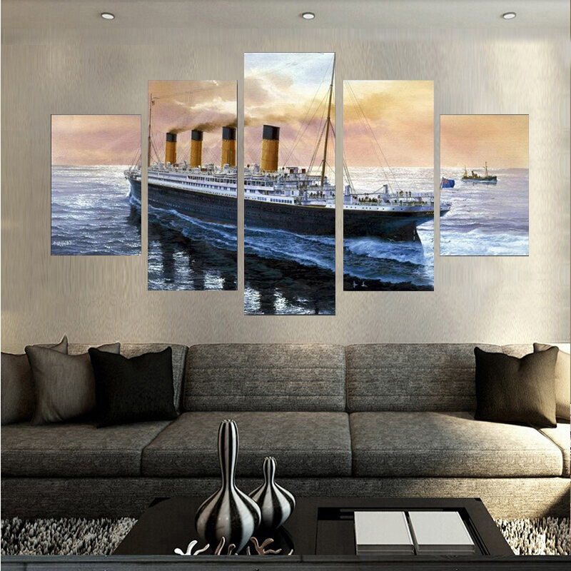 Titanic Bedroom Theme: Hot Titanic Paintings Wall Art Home Decoration Living Room