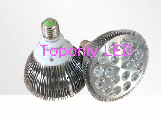 18x1w E27 Bridgelux high power led spot lighting Par38 LED bulb lamp AC85 265V 10000k/15000k/20000k cold white color 40pcs/Lot
