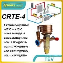 CRTE-4 R134a мощность охлаждения, внешний equlizer TX клапан с пайку работы для грузовых автомобилей-рефрижераторов