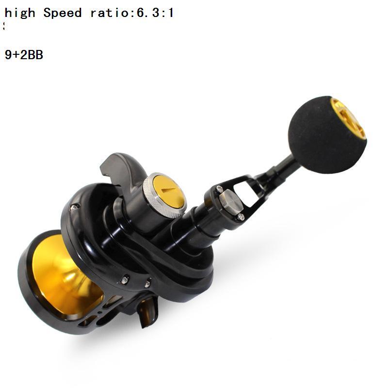 Deep ocean profession CNC Fishing vessel 9 + 2BB high Speed ratio bait casting Full Metal fishing wheel Specialize big things