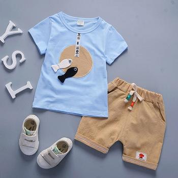 BibiCola 2018 lato zestawy ubrań dla chłopców maluch chłopcy topy + spodenki spodnie ubrania dla dzieci Sport garnitur dla chłopców dres zestawy tanie i dobre opinie COTTON Aktywny REGULAR O-neck Boys baby Pasuje większy niż zwykle proszę sprawdzić ten sklep jest dobór informacji