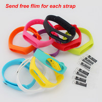 Silicone Xiaomi Mi Band 2 Strap With 10 Colours Miband 2 Strap For Xiaomi Bracelet Accessories Send Free Screen Protector Flim