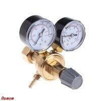 OOTDTY Argon CO2 Gauges Pressure Reducer Mig Flow Meter Control Valve Welding Regulator
