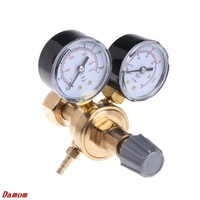 OOTDTY Argon CO2 Gauges Pressure Reducer Mig Flow Meter Control Valve Welding Regulator