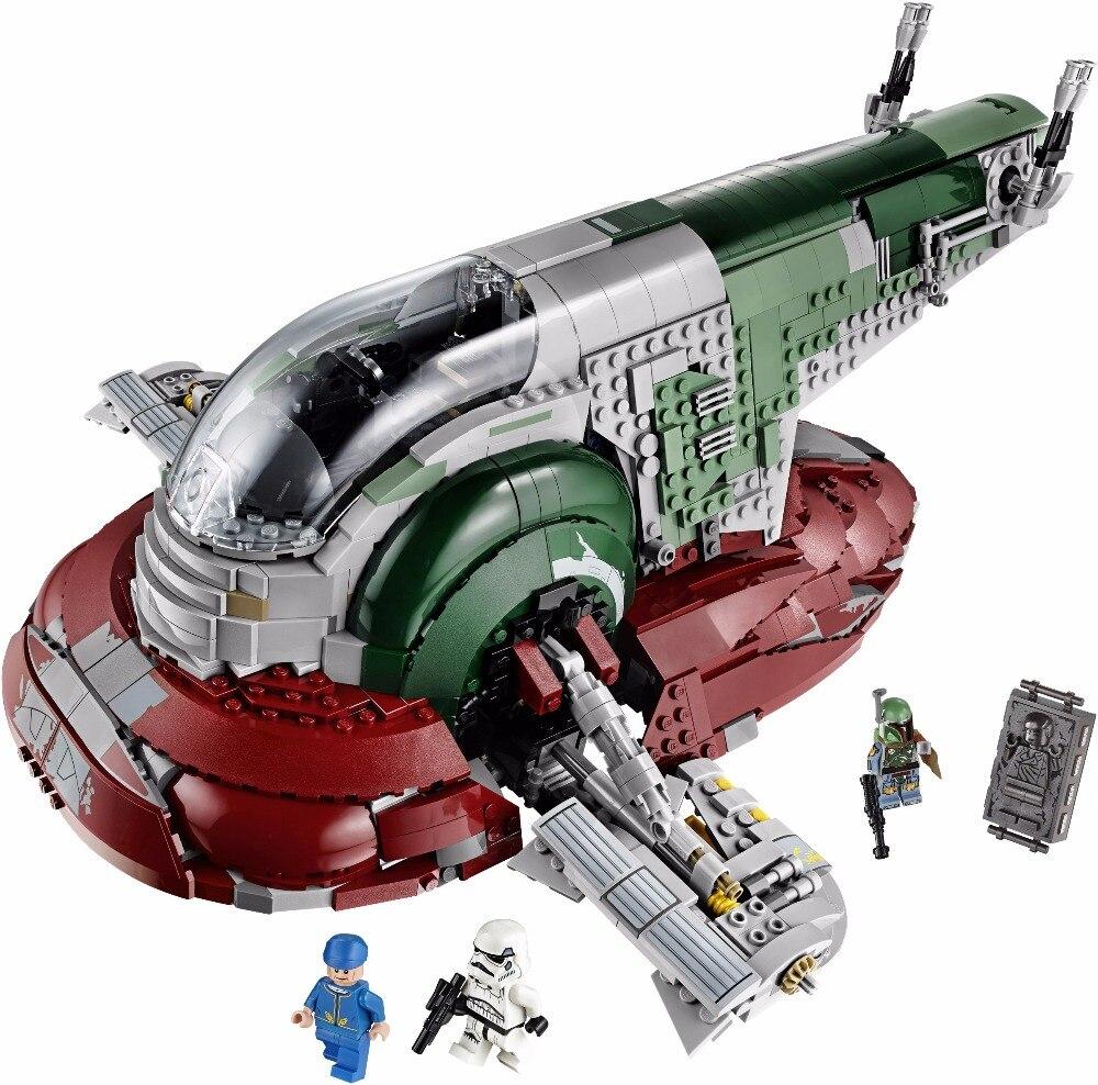 LEPIN 05037 legoing Star Series War UCS The Slave Set 1 Model 2067pcs Building Block Bricks Toys Compatible 75060 Children Gifts