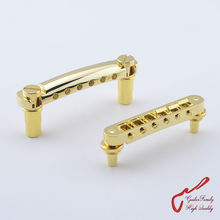 1 Set GuitarFamily  Tune-O-Matic Electric Guitar  Bridge And Tailpiece  Gold  ( #1159 ) MADE IN TAIWAN