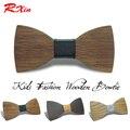 Новый Дизайн Настроить Небольшой Размер Мальчики Деревянный галстуки Baby дети bowties Бабочка Галстук Gravata Школьник Студент древесины галстук
