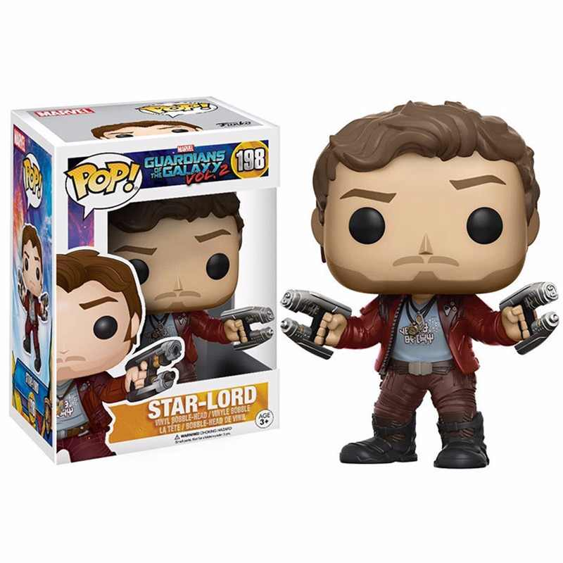 FUNKO POP Guardians of the Galaxy 2 STAR-LORD Marvel toys Collection PVC Action Figure model toys for children birthday gift