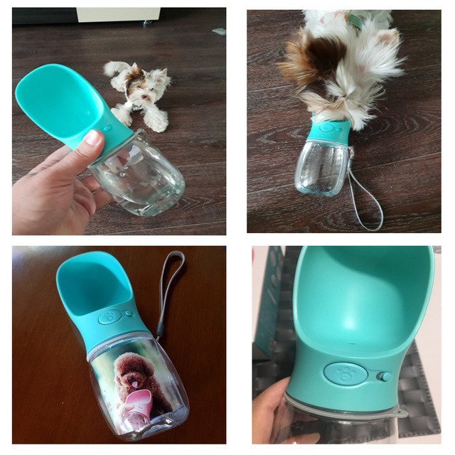 350ML/550ML Portable Pet Dog Water Bottle Travel Dog Bowl Cups Dogs Cats Feeding Water Outdoor For Puppy Cat Pets Products 5