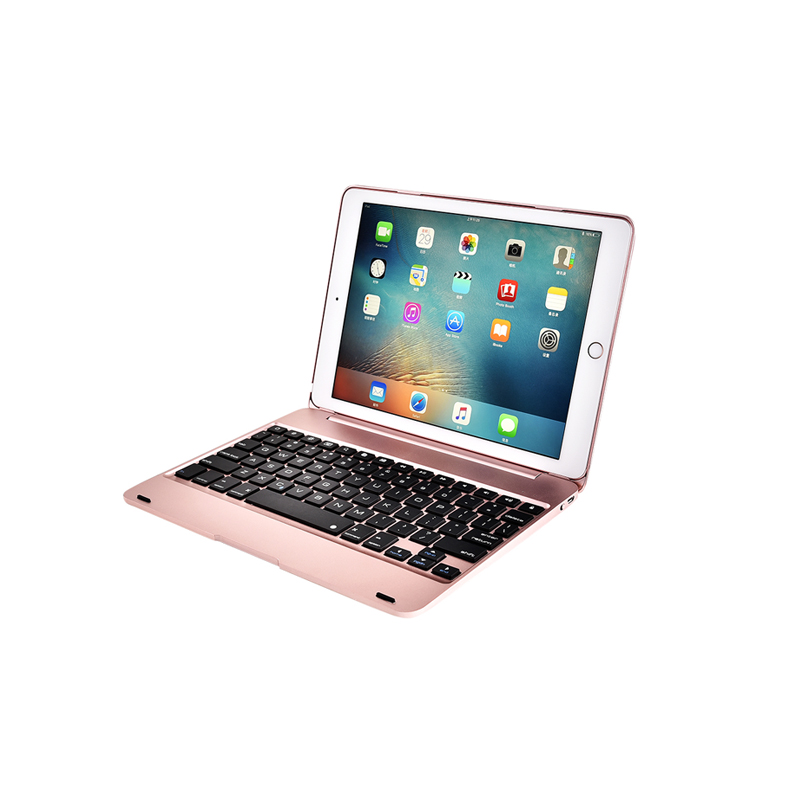 F19/For iPad Pro 9.7 inch iPad 6 Air2 <font><b>Notebook</b></font> Folding Ultra Light Slim Smart Wireless Bluetooth Keyboard Hard Protective Case