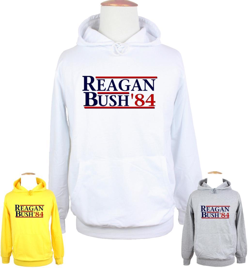 Unisex REAGAN BUSH84 political election funny 80s retro Design Hoodie Mens Boys Womens Girls Sweatshirt Printed Hoody