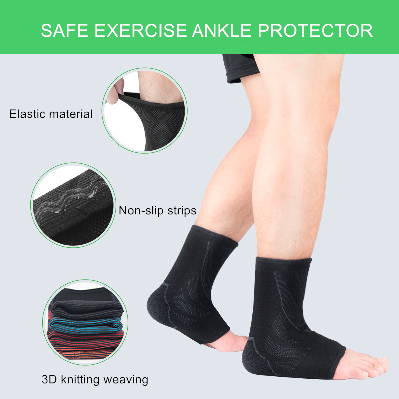 1Pcs Ankle Compression Sports Support 3D Knitting Weaving Ankle Elastic Brace Guard Anti Sprain Basketball Football Foot Safety in Ankle Support from Sports Entertainment