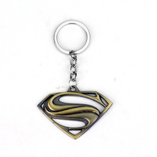 DC Superhero Movie Superman Alloy Car Key Chain Holder Best Friend Graduation Chirstmas Day Gift