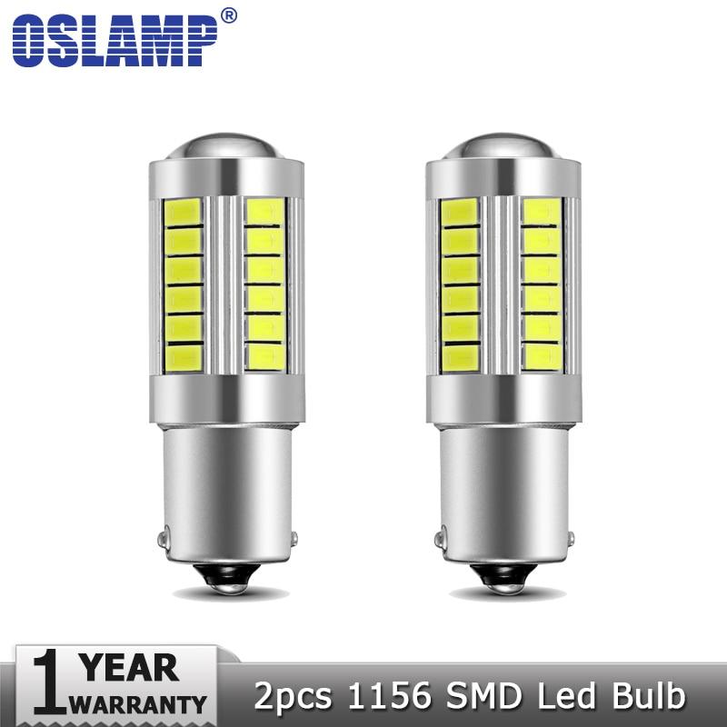 Oslamp 2pcs 1156 BA15S Led Car Light Bulbs White 6000K DC12v Clearance Light Break Light Turn Signal Lights Backup Reverse Light