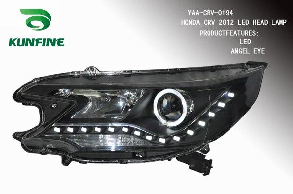 Пара автомобиль передняя фара в сборе для Хонда CRV 2012-до Тюнинг детали фары лампы Ангел глаз дневные ходовые огни Би Ксеноновые