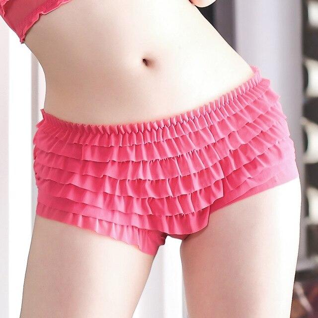 29f64cf06 Lolita Women Briefs Sheer Ruffles Sexy Underwear Woman Seamless Panties  Female Panty Knickers Boyshorts Underpants Lingerie Slip