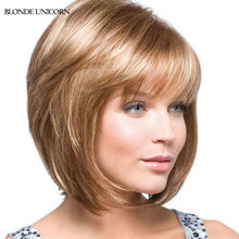 Blonde Unicorn Charming Bob Wigs Short Bob Human Hair Wigs For Women Blonde Human Hair Wigs 10 Colors Global Free Shipping