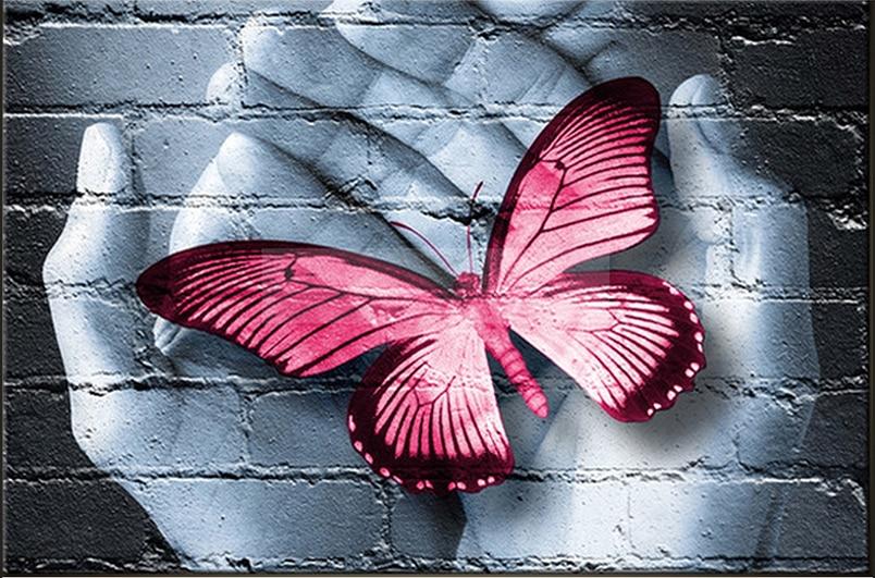 Full circular Diamond DIY 5D Diamond Painting Red butterfly Embroidery Cross Stitch Rhinestone Mosaic Painting Decor