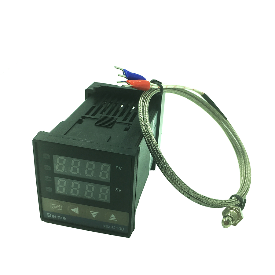 цены digital temperature controller REX-C100 thermostat relay output + K type thermocouple sensor 48 x 48 1300C