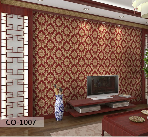 New Non-woven fabric with gold thread Europe type style The sitting room the bedroom TV sofa background The wallpaper wall paper europe type restoring ancient ways the flag of non woven fabrics do old sitting room the bedroom tv setting wall paper sweet