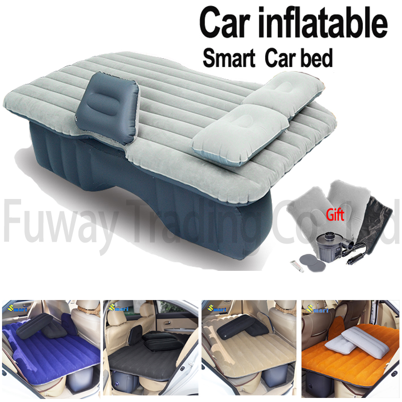 DHL Free Shipping Car Back Seat Cover Car Air Mattress Outdoor Travel Bed Inflatable Mattress Air