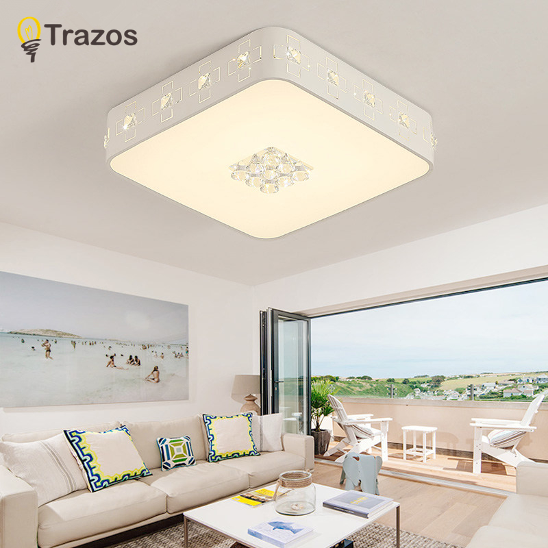 New Modern White crystal Ceiling lighting for Livingroom Bedroom indoor lamp K9 crystal lustres de teto ceiling lamp noosion modern led ceiling lamp for bedroom room black and white color with crystal plafon techo iluminacion lustre de plafond