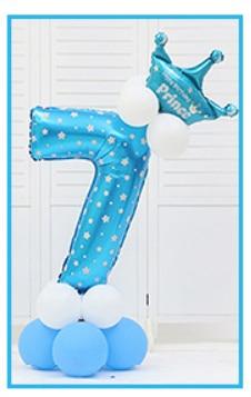 16 шт./упак. розового и голубого цвета для детей 0-9 цифры Большие Гелиевые номер Фольга детей фестивалей Dekoration День рождения шляпа игрушки для детей - Цвет: blue 7