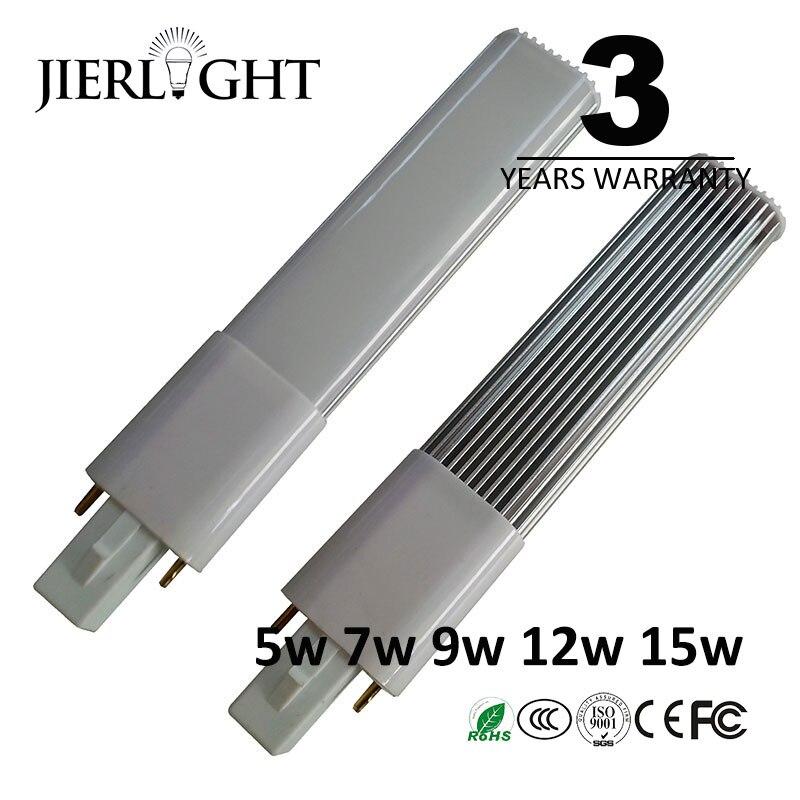 3 anos de garantia 5 w 7 w 9 w 12 w 15 w G23 G23 lâmpada led de luz conduziu a lâmpada luz pl pl-s substituição