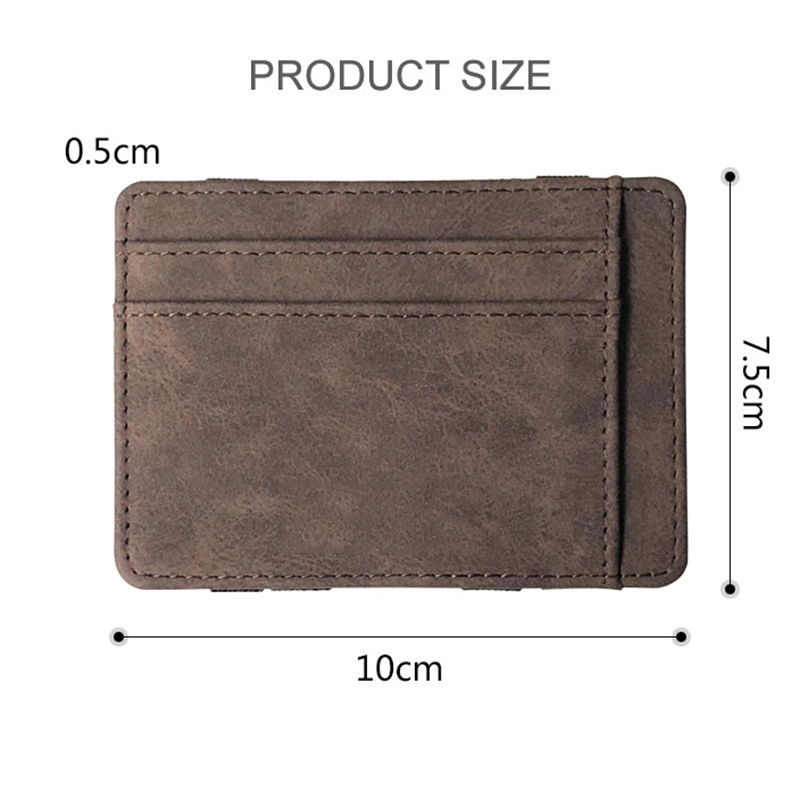 2019 Hot Sale Men Wallet Small Size Magic Band Solid Color Card Holder Coin Purse MSJ99 in Wallets from Luggage Bags