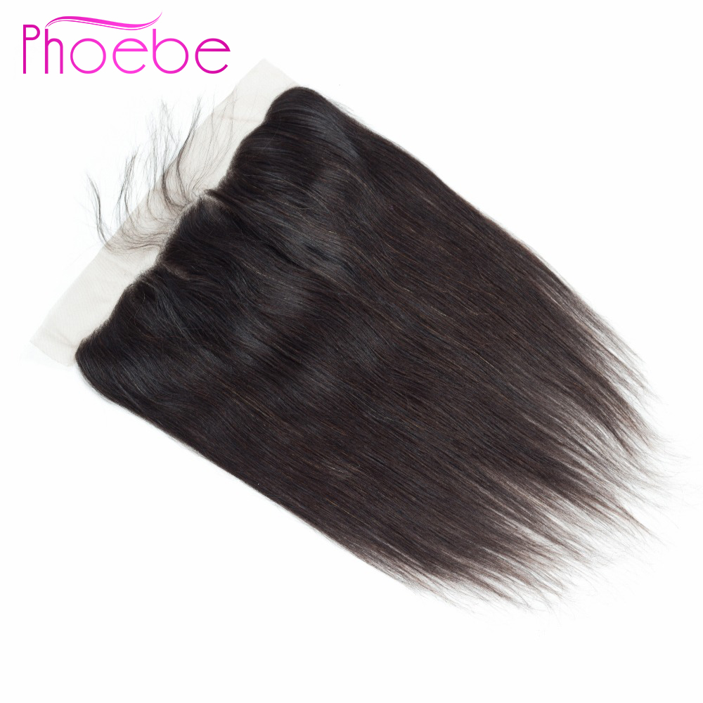Phoebe Peruvian Straight Hair 13x4 Lace Frontal Closure Remy Human Hair Closure 8-22 Inch Frontal Free/Middle/Three Part Closure
