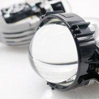 2017 New SANVI Bi LED Projector Lens Headlight Free Shipping Universal Type 35W RHD LED Headlight