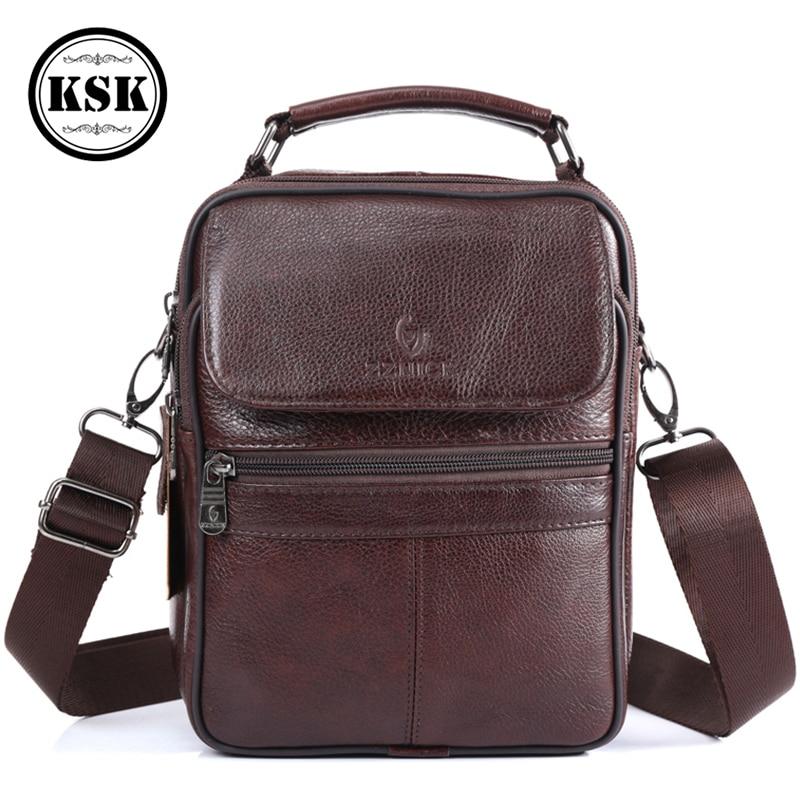 Men Bag Messenger Bag Genuine Leather Bag Shoulder Handbag Luxury Handbags Flap Crossbody Bags For Men 2019 Fashion KSKCrossbody Bags   -