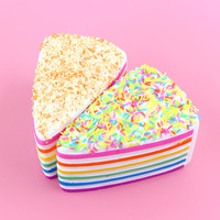 1 PCS/Lot New Rare Squishy Jumbo Rainbow Shortcake Slice Super Slow Rising Original Package