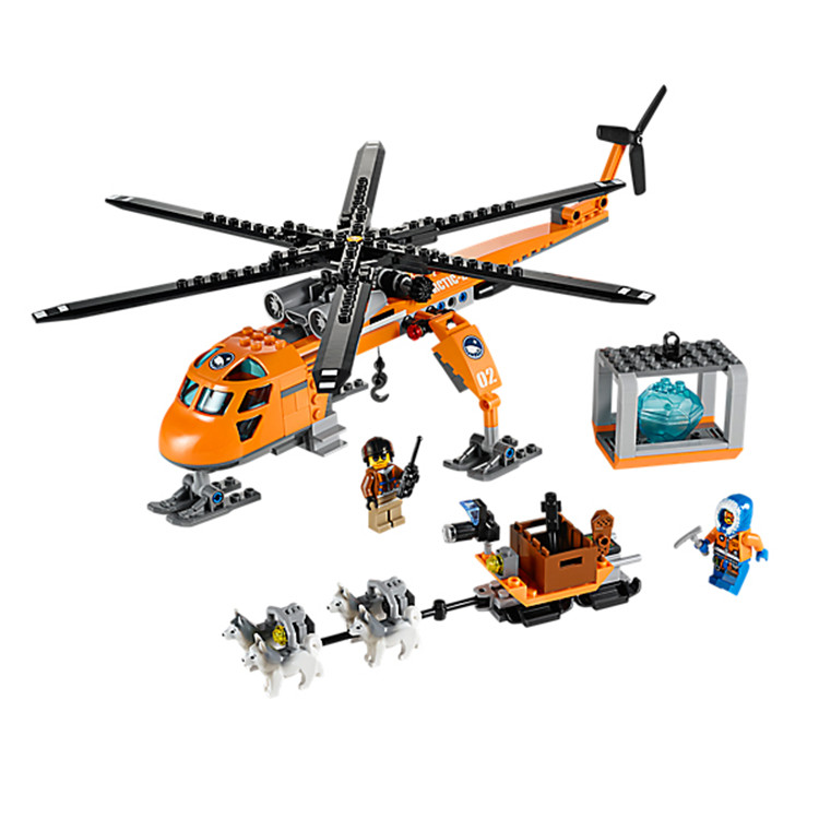 CHINA BRAND 10439 Educational bricks Toys for children DIY Building Blocks Compatible with Lego City Arctic Helicrane 60034 lepin 02012 city deepwater exploration vessel 60095 building blocks policeman toys children compatible with lego gift kid sets