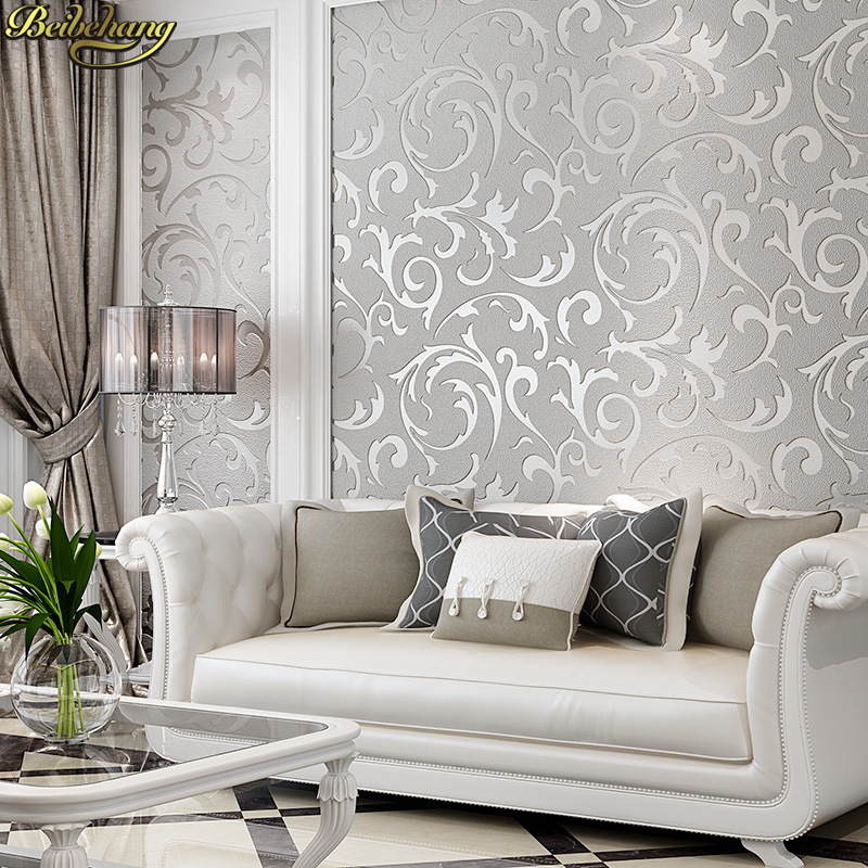 beibehang papel de parede 3d European deerskin velvet Wallpaper Roll Living Room TV Background gold beige Wall Paper bedroom mif анальная пробка серебристая с прозрачным кристаллом в форме сердца