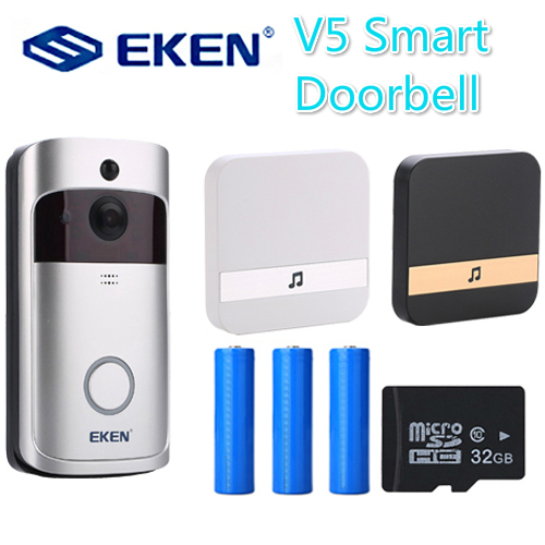V5 Smart IP Video Intercom WIFI Deurbel Phone Door Bell Video-eye Camera For Apartments IR Alarm Wireless Door For Video Door