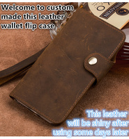 SS08 Genuine leather wallet phone case for Huawei P Smart flip cover case for Huawei Enjoy 7S phone bag cover