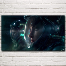 Science Fiction Space Astronaut Spacesuit Art Silk Poster Home Decor Pictures 11×20 16×29 20×36 24×43 30×54 Inches Free Shipping
