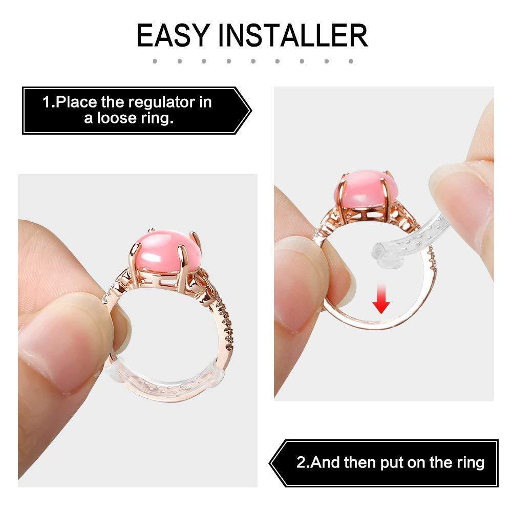 2019 New 10pcs Ring Size Adjuster Set Ring Resizing Jewelry Tools Plastic Ring Adjuster Pad Reducer Jewelry Resizing Tools in Jewelry Tools Equipments from Jewelry Accessories