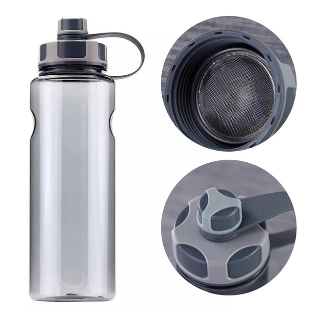 New 800ml-1500ml Outdoor Fitness Sports Bottle Kettle Large Capacity Portable Picnic Water Bottles BPA Free Gym Space Cup Cups 3