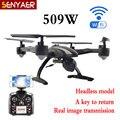 JXD 509 W 2.4G 6-Axis Gyro WIFI FPV RC Quadcopter Drone RTF Drone con Cámara HD CF Modo de Una Tecla de Retorno Drone