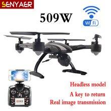 JXD 509W 2.4G 6-Axis Drone Gyro WIFI FPV RC Quadcopter RTF Drone with HD Camera CF Mode One Key Return Drone