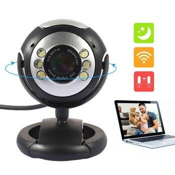 Cewaal Universal 6LED MINI Camera 360degree rotation PC Camera Web Camera Protable Laptop Webcam Web Camera Built in Mic Desktop