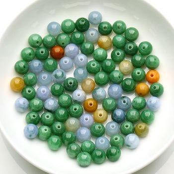 20 pcs Multi-Tone Chinese 100% A Grade Natural Jade Rich Loose Beads