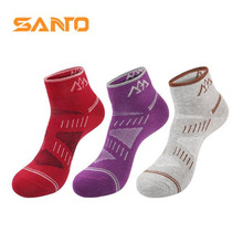 3 Pairs SANTO S020 Outdoor Cotton Socks Womens Sports Quick Dry Spring Summer Fit to Size 36-38