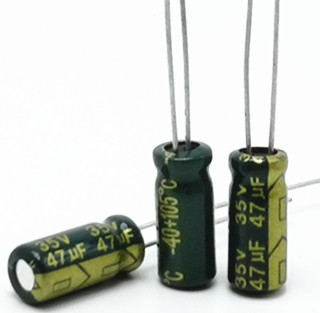 30pcs/lot 35V 47UF 5*11MM  High Frequency Low Impedance Aluminum Electrolytic Capacitor 47uf 35v 20%