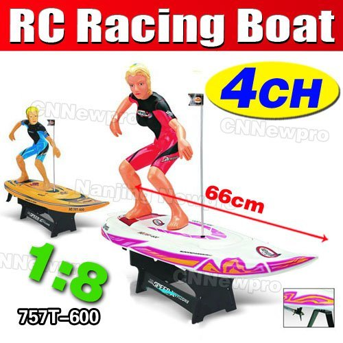 Free Shipping! Big Size 4ch 66cm1:8 NQD RC High Speed Ship Remote Radio Control  r/c High Speed Surf King W/ 550 motor(757T-600)