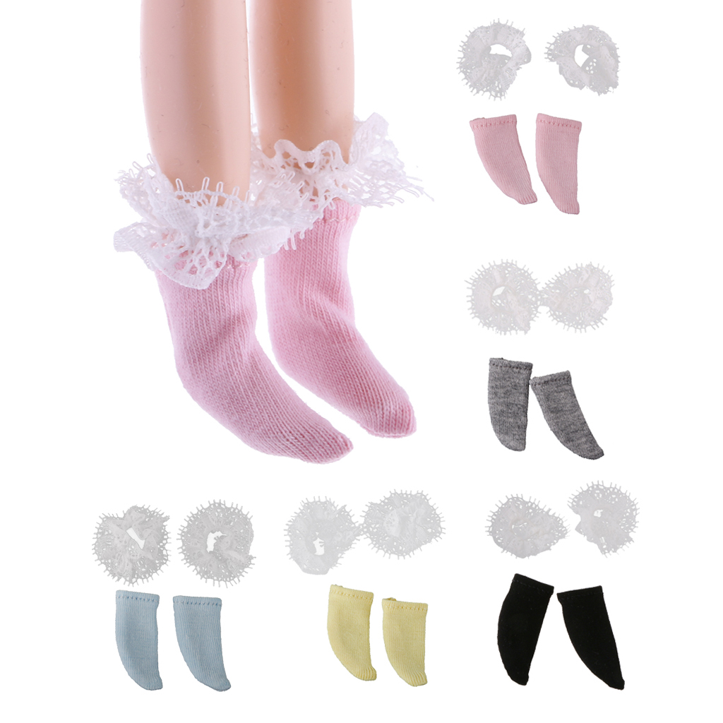 Dress up diary baju pelaut - Cute Dolls Accessories Sweet Doll Socks With Flower Lace Fit For 12inch Blythe Doll Dress Up